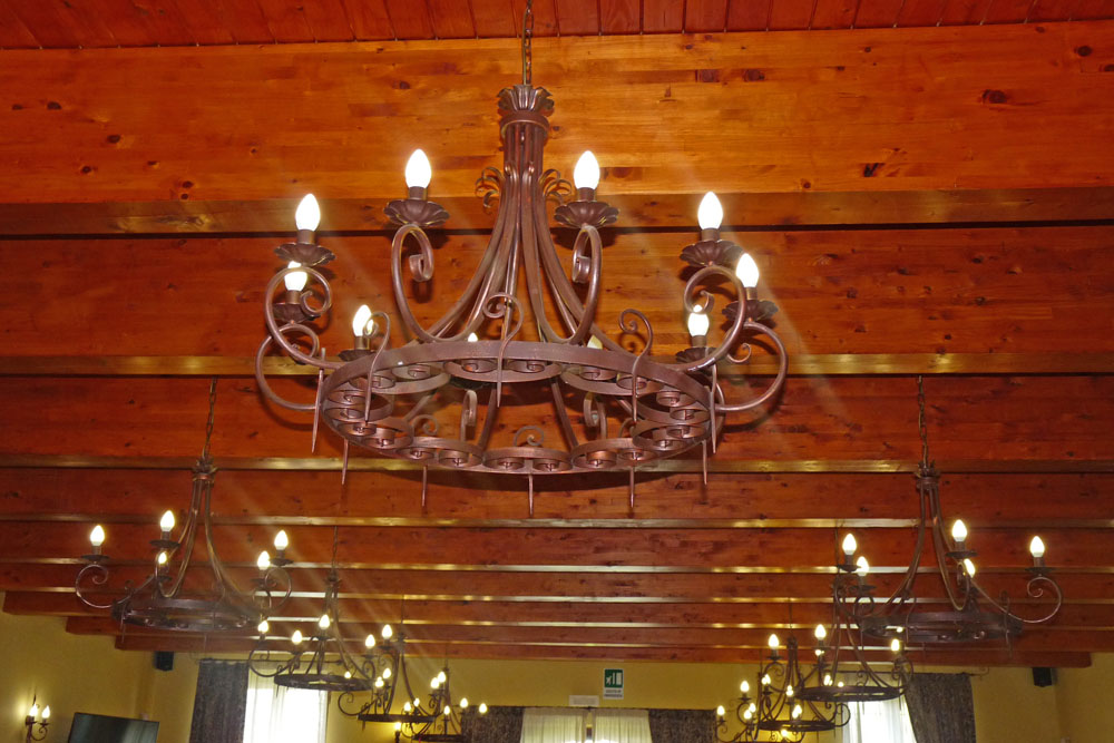illuminazione per il ristorante lampadario 10 luci