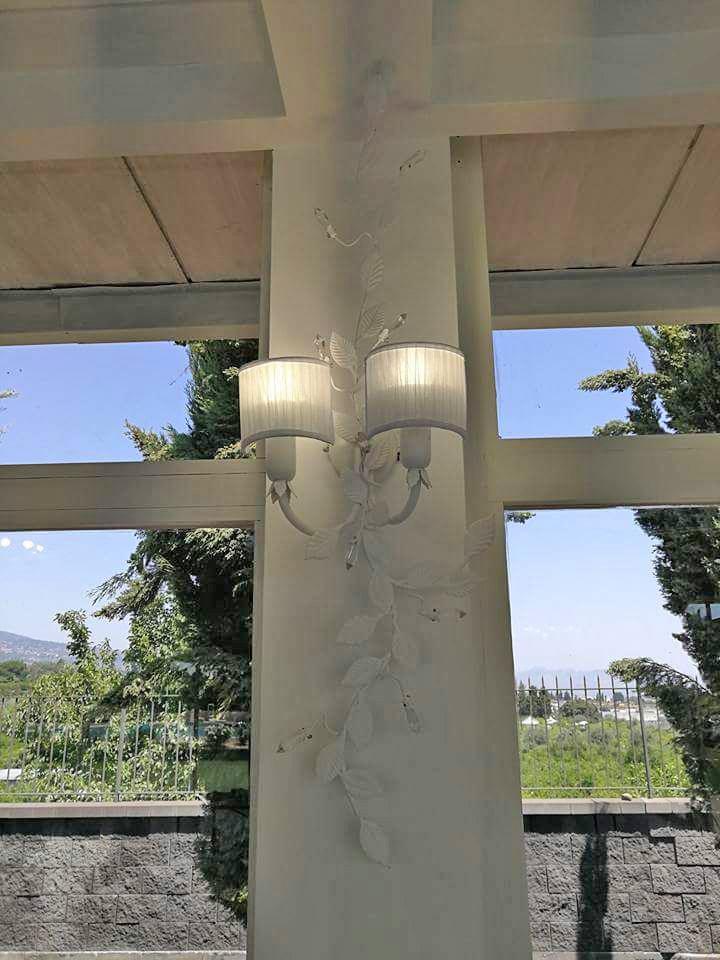 lampada da parete con due luci