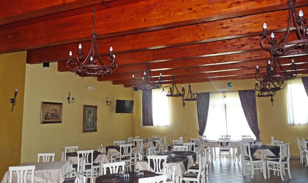 illuminazione per il ristorante