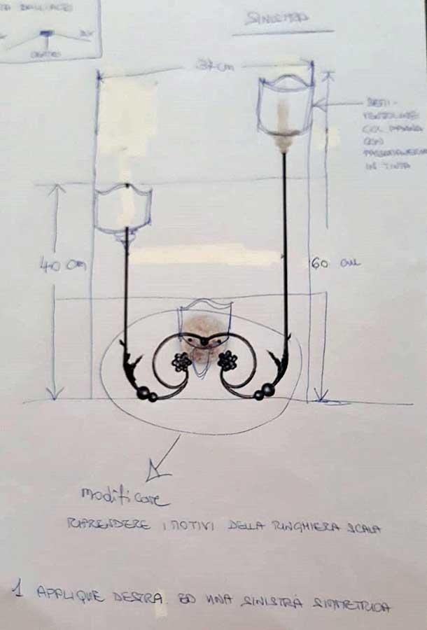 disegno della lampada