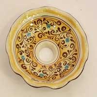 piatto in ceramica decoro 02
