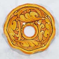 piatto in ceramica decoro 03