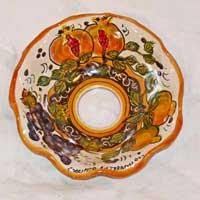 piatto in ceramica decoro 04 fatto a mano
