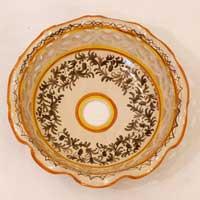 piatto in ceramica decoro 05 fatto a mano