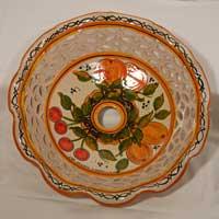 piatto in ceramica decoro 06 fatto a mano