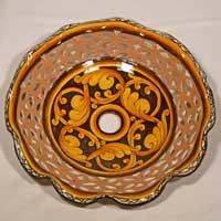 decoro 08 piatto in ceramica fatto a mano