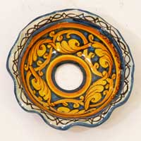 decoro 09 piatto in ceramica fatto a mano