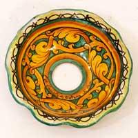 decoro 11 piatto in ceramica artigianale