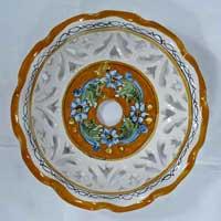 decoro 12 piatto in ceramica artigianale