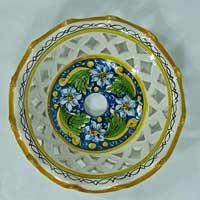 decoro n.13 piatto in ceramica artigianale