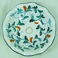 decoro n.14 piatto in ceramica artigianale
