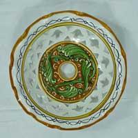 decoro n.15 piatto in ceramica artigianale
