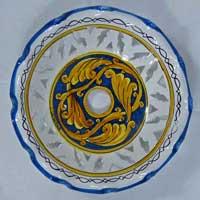 decoro n.16 piatto in ceramica artigianale