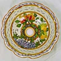 decoro n.17 piatto in ceramica artigianale