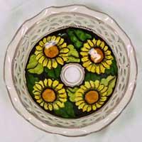 decoro n.19 piatto in ceramica artigianale