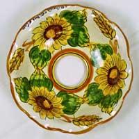 decoro n.20 piatto in ceramica artigianale