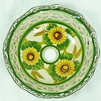 piatto in ceramica decorato a mano n.21