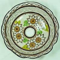 piatto in ceramica decorato a mano n.22