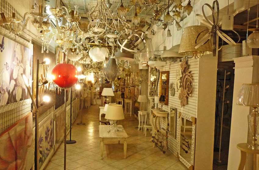 negozio lampadari per un salone