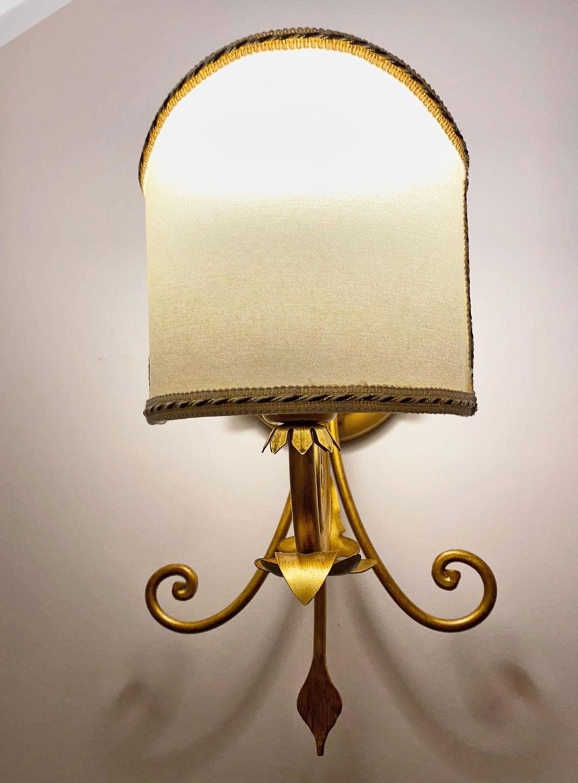 Lampada Da Parete Oro Con Paralume Camera Da Letto Art 216